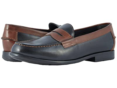 Nunn Bush Drexel Moc Toe Penny Loafer with KORE Walking Comfort Technology (Black/Brown) Men