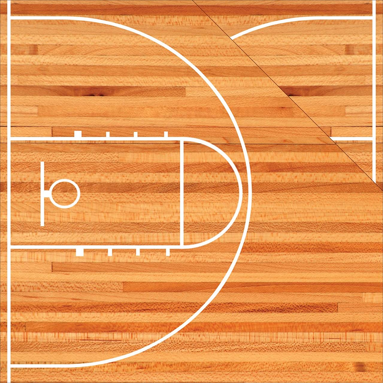 Reminisce TBAC-001 25 Sheet Basketball Court Double-Sided Cardstock, 12