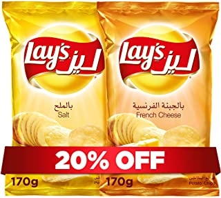 Lay's Salt 170g + Lay's French Cheese 170g, Potato Chips