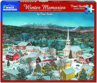 White Mountain Puzzles Winter Memories in Stowe Vermont-1000 Piece Jigsaw Puzzle