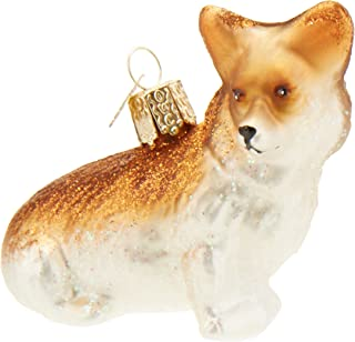Old World Christmas Pembroke Welsh Dog Collection Glass Blown Ornaments for Christmas Tree,Chocolate Labrador