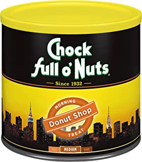 Chock Full o'Nuts Coffee, Morning Treat Donut Shop Ground, 23 Ounce