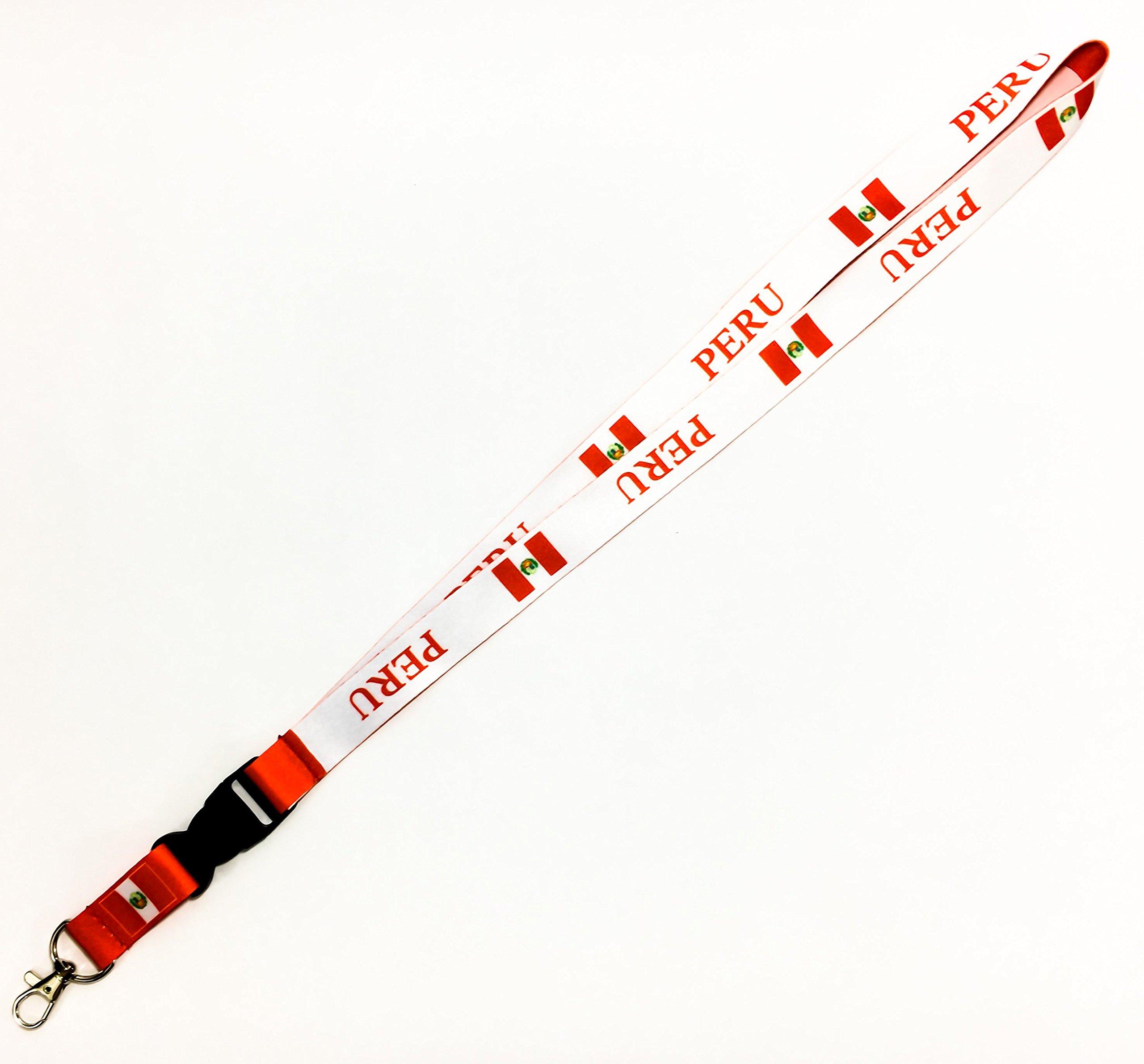 Le Triangle Bandera de país reversible cordón/llavero con llaveros con clip, insignias de identificación, llaves