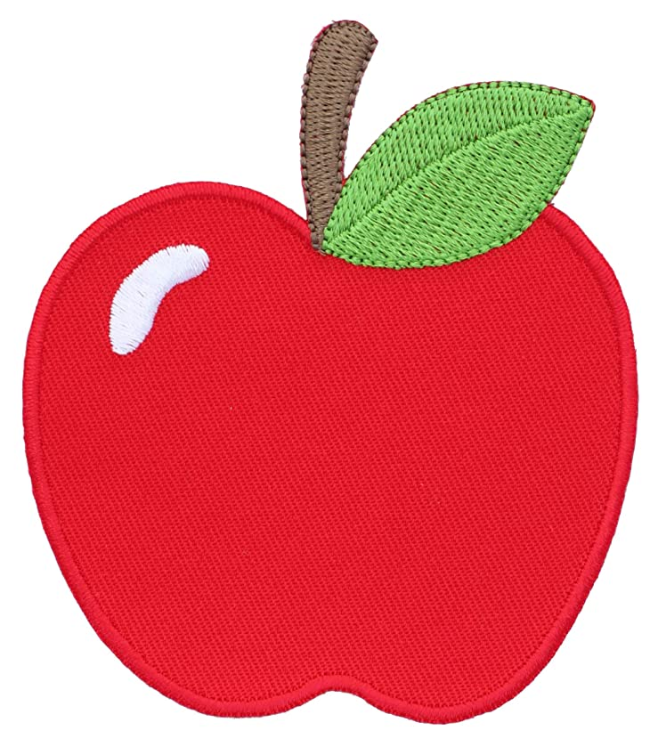 PatchMommy Iron On Patch, Apple - Appliques for Kids Children