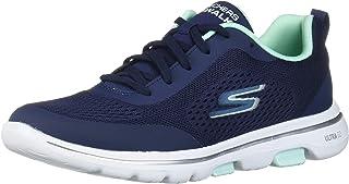 Skechers GO WALK 5, Women's Go Walk 5 Trainers, Blue (Navy Textile/Aqua Trim Nvaq), 5 UK (38 EU)
