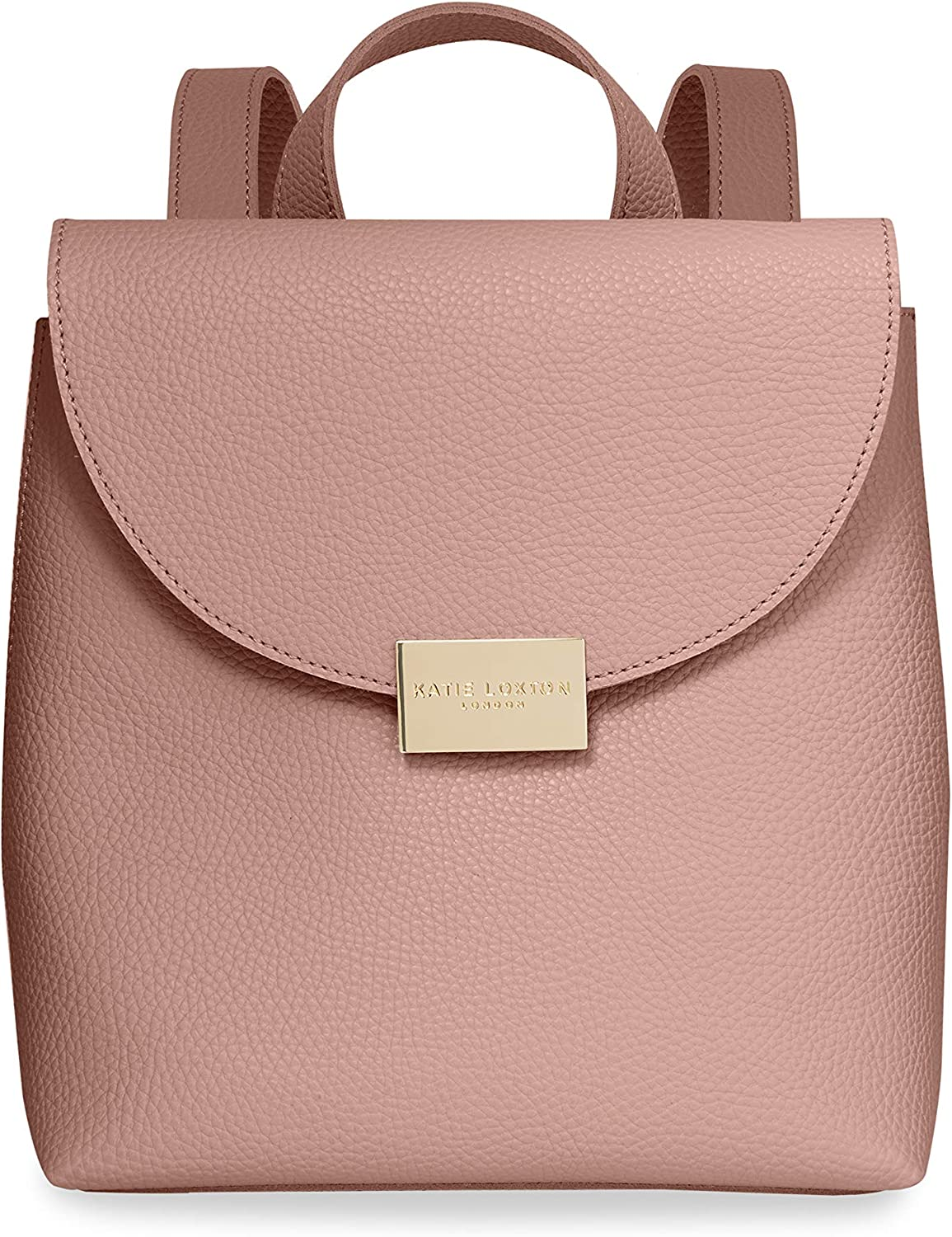 Katie Loxton Bailey Womens Vegan Leather Convertible Strap Top Handle Backpack Purse Pink