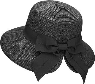 Women's Lightweight Foldable/Packable Beach Sun Hat w/Decorative Bow