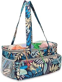 Sac de rangement pour fil à tricoter, sac à crochet, sac de loisirs créatifs avec bandoulière, grand organiseur de tricot ...