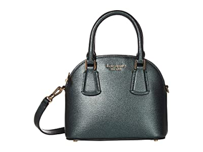Kate Spade New York Sylvia Mini Dome Satchel (Deep Evergreen) Handbags