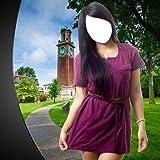 Mädchen Kurzes Kleid Fotomontage