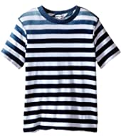 Splendid Littles - Striped Dip Dye Indigo Tee (Little Kids/Big Kids)