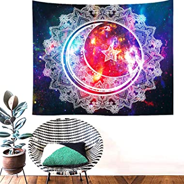 Wall tapestry - Trippy Mandala Tapestry,Sun and Moon Tapestry Psychedelic Wall Tapestry for Bedroom Wall Hanging Room Decor(5