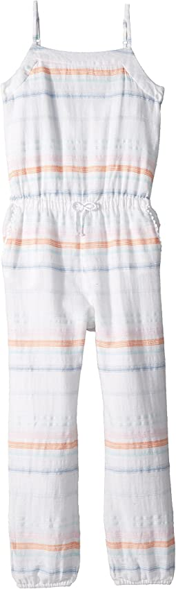 Polo Ralph Lauren Kids Striped Cotton Dobby Jumpsuit (Little Kids/Big Kids)