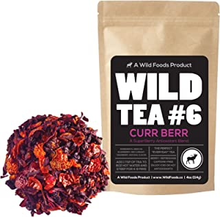 Berry Blend Herbal Tea with Hibiscus, Elderberry, Currant and Cranberry Loose Leaf Herbal Tea by Wild Foods Co (4 ounce)