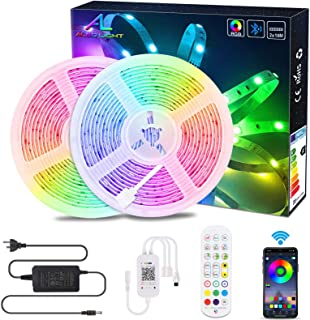 20M / 65.6Ft BluetoothLed Strip Light,ALED LIGHT Music Sync Flexible Color Changing RGB 5050 600 LEDs Rope Light Strips K...