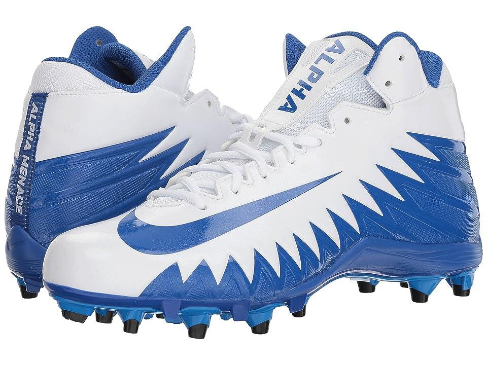 Nike Alpha Menace Varsity Mid (White/Game Royal/Game Royal/Photo Blue) Men