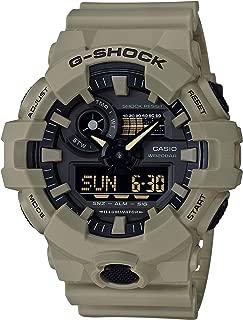 Men's G SHOCK Quartz Watch with Resin Strap, Beige, 25.8 (Model: GA-700UC-5ACR)