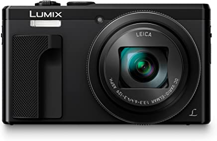 Panasonic LUMIX DMC-ZS60 Camera, 18 Megapixels, 1/2.3-inch Sensor, 4K Video, WiFi, Leica DC Lens 30X F3.3-6.4 Zoom (Black)