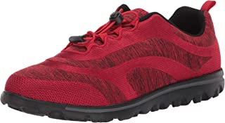 Propet Women's TravelActiv Aero Sneaker, Red, 10 2X-Wide