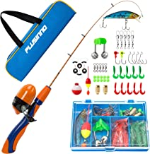 PLUSINNO Kids Fishing Pole,Portable Telescopic Fishing Rod and Reel Full Kits, Spincast..