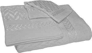 Austin Horn Classics Chevron Jacquard 3-Piece Towel Set, White