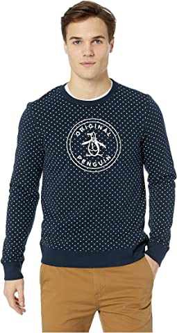 Long Sleeve Star Printed Logo Crew