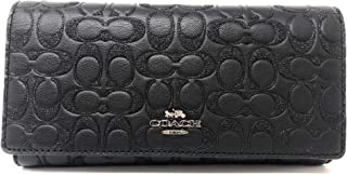 Coach Trifold Wallet Card Case in Signature Leather Packaged in a Coach Gift Box F83504