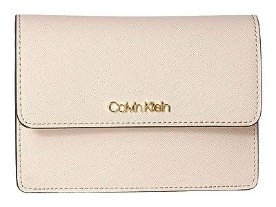 Calvin Klein Hayden Saffiano Leather Crossbody (Sand) Cross Body Handbags