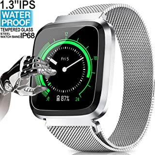 2019 Upgrade Fitness Tracker HR - Waterproof Smart Watch GPS Tracker for Men Women Android iOS, Activity Tracker with Heart Rate Blood Pressure Sleep Monitor Pedometer Smart Bracelet