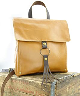 Tan Leather Backpack Fall Fashion Bag