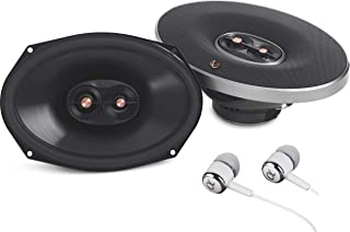 "Infinity PR9613IS 6X9"" 270 watts Max Power 3-Way Primus Series Coaxial Car Audio Stereo Speaker With Edge-Driven Textile Tweeters / Free Alphasonik Earbuds"