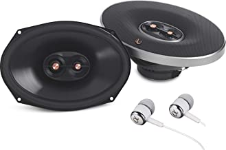 """Infinity PR9613IS 6X9"""" 270 watts Max Power 3-Way Primus Series Coaxial Car Audio Stereo Speaker With Edge-Driven Textile Tweeters / Free Alphasonik Earbuds"""