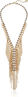 Womens Fringe & Stone Front Y Necklace
