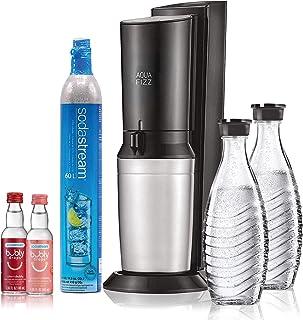 SodaStream Aqua Fizz Sparkling Water Maker Bundle (Black), with Co2, Glass Carafes, & bubly drops Flavors