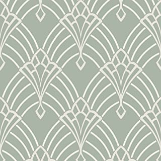 duck egg blue and silver wallpaper