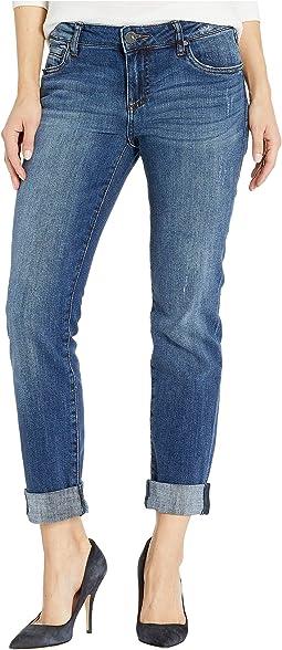 marc janie Girls Raw Edge Wide Leg Denim Pants
