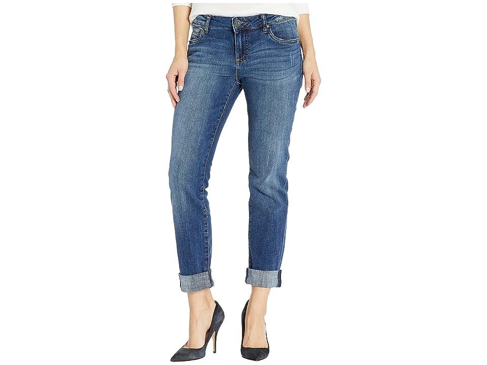 KUT from the Kloth Catherine Boyfriend Jeans in Grow w/ Dark Stone Base Wash (Grow w/ Dark Stone Base Wash) Women
