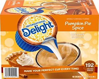 International Delight, Pumpkin Pie Spice, Single Serve Coffee Creamer, Pack of 192, Shelf Stable Non-Dairy Flavored Coffee Creamer, Great for Home Use, Offices, Parties or Group Events