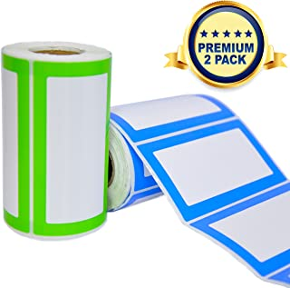 Colorful Name Tags Sicker Labels - 2 Rolls 500 Stickers in Total - 3.5 x 2