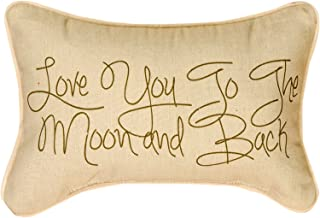Manual Woodworker and Weavers Love You to The Moon and Back Word Pillow