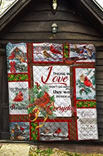 Cardinal Quilt Blanket Cardinal Christmas Quilt Cardinals Appear When Angles are Near Christmas Quilt Customized Gifts for Men Women Kids Winter Bird Quilt Cardinal Bird Quilt