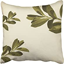 Capsceoll Leaf Olive Leaf Decorative Throw Pillow Case 20X20Inch,Home Decoration Pillowcase Zippered Pillow Covers Cushion Cover with Words for Book Lover Worm Sofa Couch