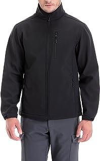 Mens Softshell Fleece-lined Jackets/Winter Outdoor Coats/Windbreaker/Medium-weight Water-repellent.