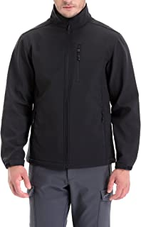 Men's Windproof Softshell Zip-Front Fleece-Lined Jacket...