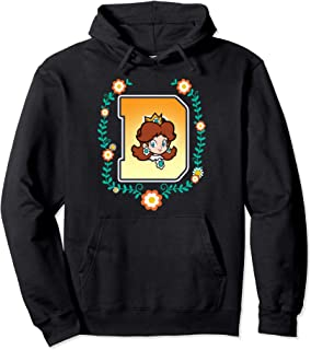 Super Mario Princess Daisy University Letter Portrait Logo Pullover Hoodie