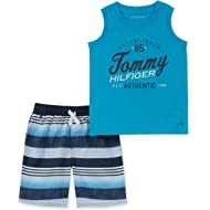 Tommy Hilfiger Baby Boys 2 Pieces Muscle Top Shorts Set