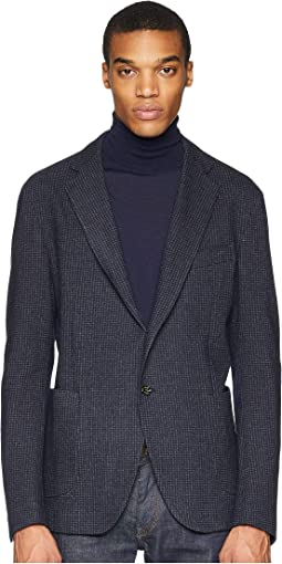 Jersey Check Blazer