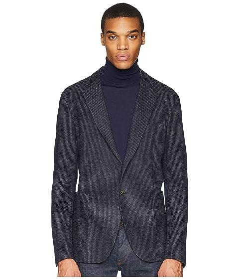 eleventy Jersey Check Blazer