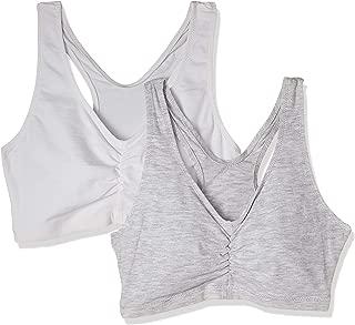Hanes Women's H570 Pack of 2 Bra, Grey, Medium