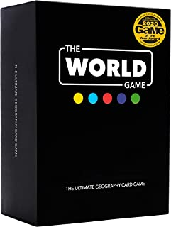 The World Game - Geography Card Game - Educational Board Game for Kids, Family & Adults - Cool Learning Gift Idea for Teen...